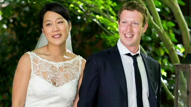 Priscilla Chan and Mark Zuckerberg marry