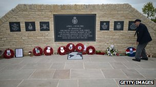 Falklands memorial at the National Memorial Arboretum