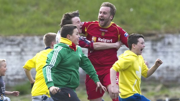 Albion Rovers' hero Ciaran Donnelly