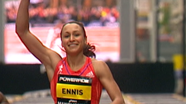 Britain&#039;s Jessica Ennis wins 100m hurdles at Great City Games