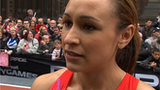 Jessica Ennis after the race at the Great CityGames in Manchester