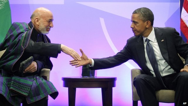 Obama and Karzai 