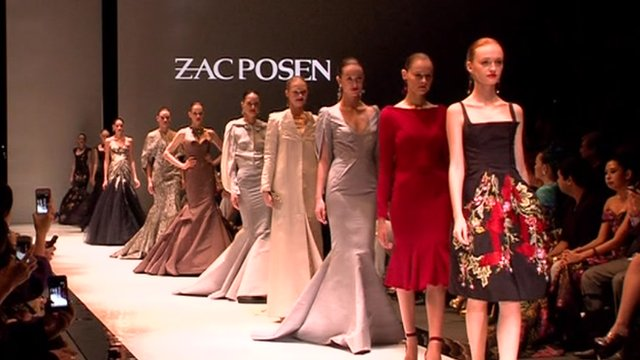 Zac Posen fashions on show in Singapore