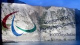 The Paralympic symbol on the White Cliffs of Dover