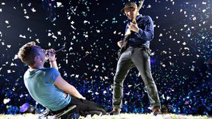 Coldplay's Chris Martin and Jonny Buckland