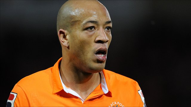 Blackpool defender Alex Baptiste