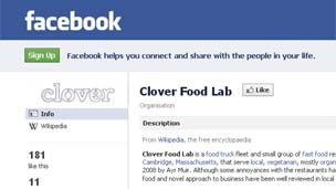 Clover Food Lab's Facebook page