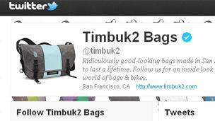 Timbuk2's Twitter page