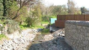 Flood defence work