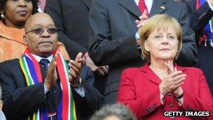 Zuma and Merkel