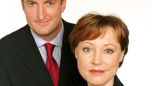 Guto Harri and Sian Williams