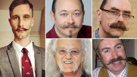 Five moustaches