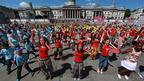 Big Dance 2010 dancers at Trafalgar Square