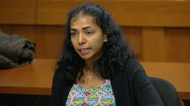 Sabitha Ravi reads a statement to the court New Brunswick, New Jersey 21 May 2012