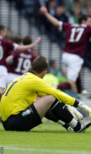 Brown was beaten five times at Hampden and is now out of contract