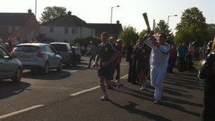 Torch relay in Ilchester