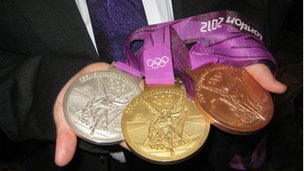 Up close - the London 2012 Olympic medals