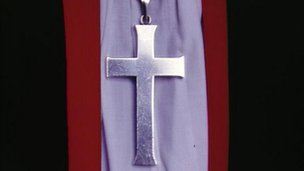 Crucifix worn by bishop