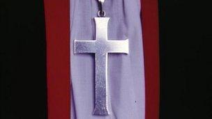 Crucifix worn by bishop