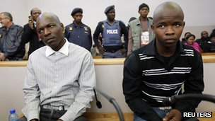Chris Mahlangu (L) and Patrick Ndlovu