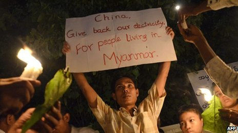 Protest in Mandalay on Monday