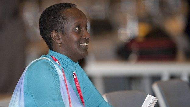 Burundi FA President Lydia Nsekera