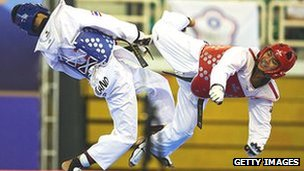 Singapore takes part in taekwondo competition