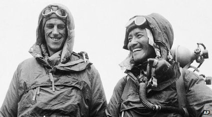 Edmund Hilary and Sherpa Tenzing Norgay