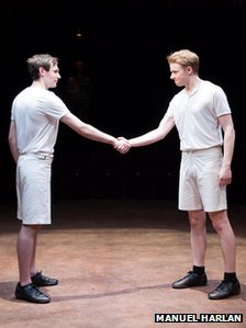 James McArdle and Jack Lowden in Chariots of Fire 