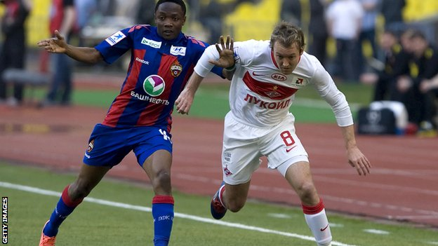 McGeady (right) in action for Spartak against Kuban Krasnodar
