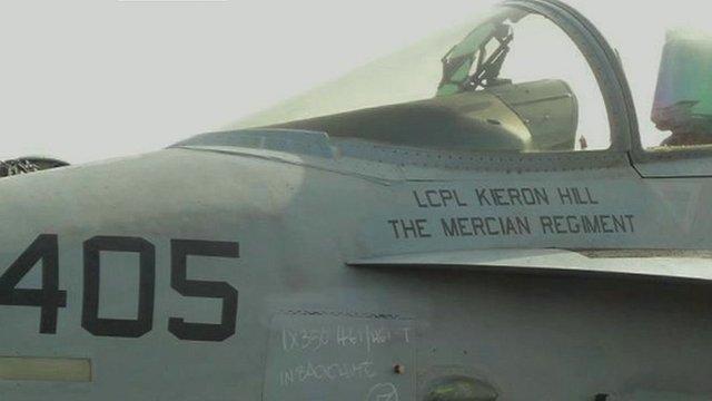 US warplane named after Nottingham soldier L/Cpl Kieron Hill