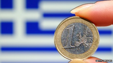 Greek flag &amp; euro
