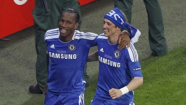 Didier Drogba and Fernando Torres