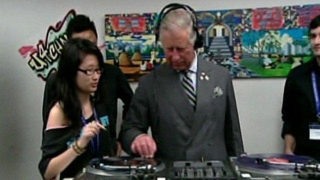 Prince Charles DJing