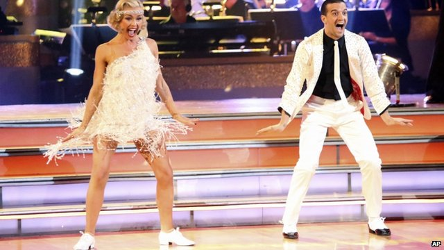 Katherine Jenkins with dance partner Mark Ballas