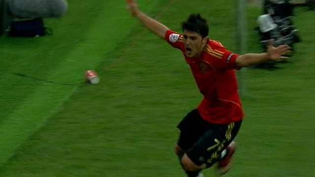 Spain striker David Villa