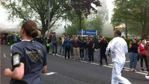 Torchbearing in Nailsea