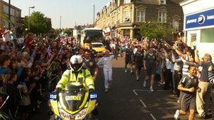 Shirley Hume carries the torch