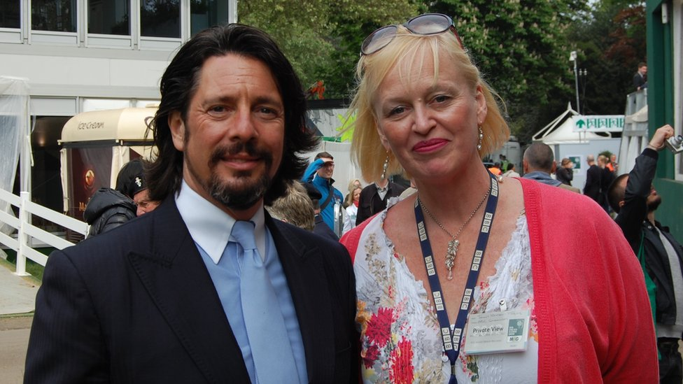 BBC Guernsey's Jenny Kendall-Tobias and Laurence Llewelyn-Bowen