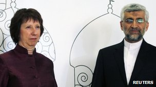 Catherine Ashton and Saeed Jalili, Baghdad, 23 May 2012