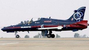Hawk trainer jet