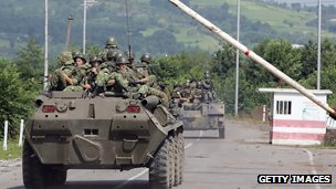 Russian troops cross into Abkhazia