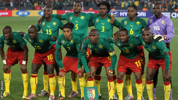 Cameroon team in 2010