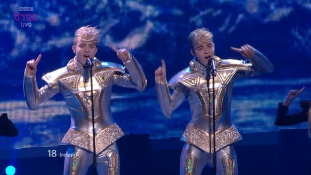 Jedward performing
