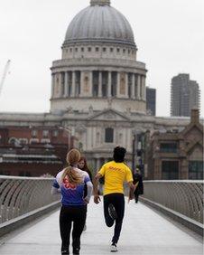 Jogging courier