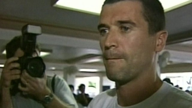 Roy Keane at Saipan airport in 2002