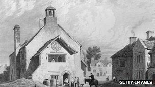 The Town Hall, Llantwit Major, Glamorganshire, Wales, circa 1750