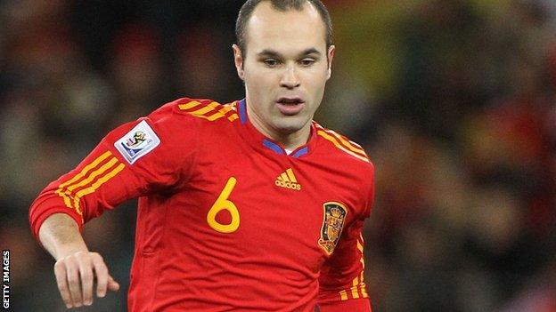 Spain midfielder Andres Iniesta