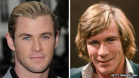 Chris Hemsworth and James Hunt