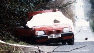 Car in which Harry Breen and Bob Buchanan were murdered